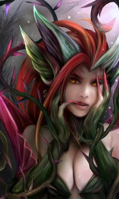 Zyra - League of Legends - Image - Zerochan Anime Image Board Lol League Of Legends, Redhead Art, Legend Images, Beautiful Fantasy Art, Imagine Dragons, Fantasy Girl, Fantasy Women, Anime, Film