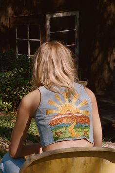 Sunshine Of Your Love Vest In Beachwood