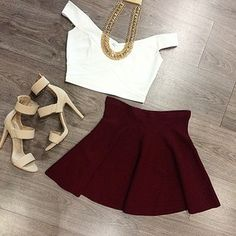Not a fan of the shoes but the skirt is adorable!