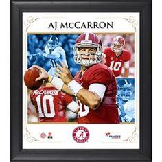 AJ McCarron Alabama Crimson Tide Framed 15'' x 17'' Core Composite Photograph