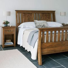 New Frontier Bedroom Range | This characterful range of bedroom furniture is made from mango wood which has a warm, mellow tone. It has been given a cleverly distressed finish which gives it an essentially rustic feel, gentle faceting on the drawer and door fronts and brass handles throughout add character to the range.