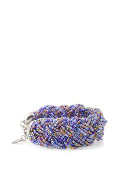 Esprit - Flettet armbånd af glasperler i Esprits Online-Shop