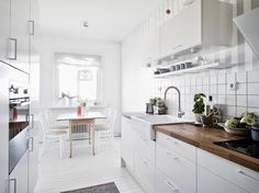 scandinavian home: A light and airy white and grey Swedish apartment