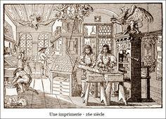 Une imprimerie - 16e siècle | La Renaissance | À la française …