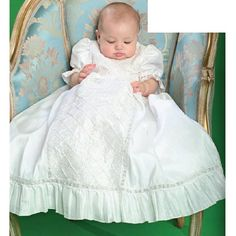 Baby Girl White Lattice Size 6-12M Christening Baptism Gown Bonnet Set $61.99