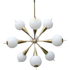 1950s Italian Sputnik Chandelier.  My parents had friends with a chandelier like this in their dinning room.