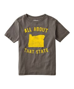 Charcoal 'All About That State' Oregon Tee - Toddler & Kids by LC Trendz #zulily #zulilyfinds