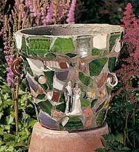 DIY Mosaic Pot with instructions