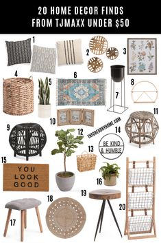 20 Home Decor Finds from #TJMaxx Under $50 Upcycled Home Decor, Diy Home Decor, Home Office Accessories, Bathroom Accessories, Living Room Decor, Bedroom Decor, Wooden Side Table, At Home Furniture Store, Target Home Decor