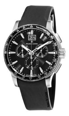 Maurice Lacroix Men's MI1098-SS041330 Miros Sport Black Chronograph Dial Watch