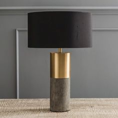 Concrete and Brass Lamp (Graham & Green)                              …