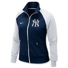 Women's Nike New York Yankees MLB Classic Track Jacket   Thinking about getting the all white jacket of this style, except with the pennant symbol!