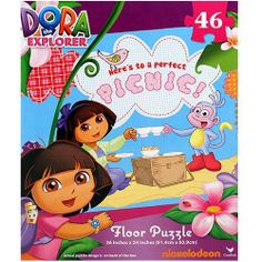 Dora the Explorer Floor Puzzle [Here's to a Perfect Picnic!] by Dora the Explorer. $12.95. Ideal for the Dora fan comes this adorable Dora floor puzzle. Measures 36 in x 24 in (91.4 cm x 60.9 cm) when complete. Includes a total of 46 pieces.