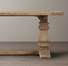 Salvaged Wood Trestle Extension Dining Tables from RH. My dream table, never paying that much though...