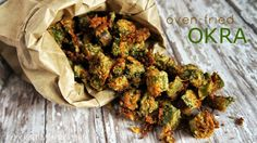 Oven Fried Okra. Love me some fried okra, now can have it without all that oil