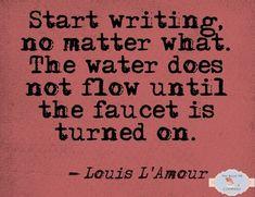 Start writing.