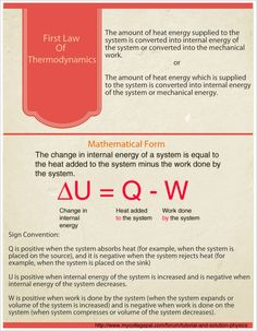 An awesome infographic about first law of thermodynamics, based on a tutorial posted by student at MyCollegePal Forum for Tutorial and Solution-Physics. http://www.mycollegepal.com/forum/tutorial-and-solution-physics