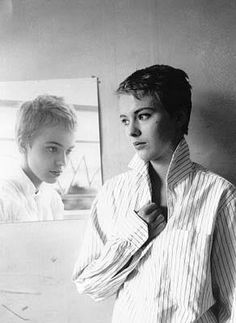 Jean Dorothy Seberg (1938-1979), American actress who starred in numerous films in Hollywood and France. Seen here in the French film, A Bout de Souffle (Breathless). She committed suicide at the age of 40. credit Marx Memorial Library