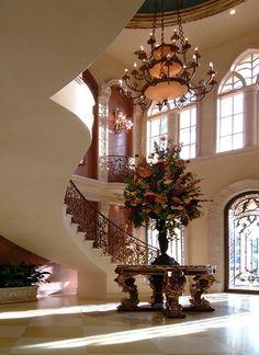 Speechless. Stunning foyer.
