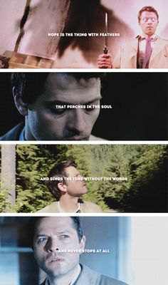 Castiel: Hope is the thing with feathers Dylan Everett, Mark Pellegrino, Jo In Sung, Hope Is The Thing With Feathers, Dean And Castiel, Meta Knight, Supernatural Destiel, Logan Lerman, Percabeth