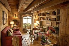 Sharing my obsessive love of rustic cabin life through photos and art I have collected. Please feel free to share - most of the photos. Chalet Design, House Design, Best Interior Design, Interior Decorating, Build A Closet, Design Case, Log Homes, House Rooms, My Dream Home