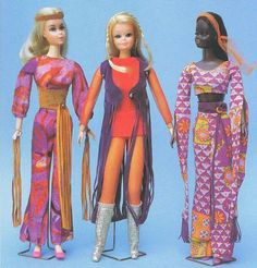 1971 Live Action Barbie, P.J. and Christie