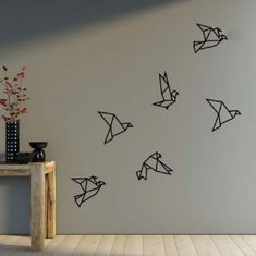 Origami for Everyone – From Beginner to Advanced – DIY Fan Simple Wall Paintings, Wall Painting Decor, Wall Decor, Tape Wall Art, Tape Art, Masking Tape Wall, Origami Design, Do It Yourself Decoration, Origami Ball