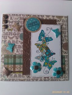 My card made using a Little Claire stamp