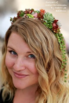 Succulent Wearables for May Day, Weddings and More Directions for making long lasting headbands and cuffs from succulents and moss - beautiful results