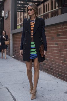 long blazers Olivia Palermo always picks the right coat length for a dressy look.