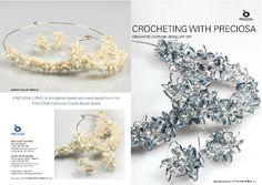 ótimo tutorial de bijuterias com miçanga e crochet em fio elástico!!
