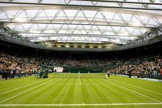 Wimbledon Center Court -  Some experts are saying the new roof is changing the tone and game at Wimbledon - The Championships