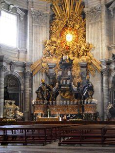 Cátedra de São Pedro, Basílica de S. Pedro, Roma (1647 a 1653)