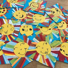 "68 Likes, 11 Comments - Sunny Morton (@sunnymorton) on Instagram: ""The kindergarteners created fun suns today! They will be incorporated into a display for their…"""