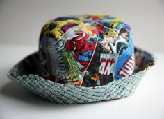 Retro Marvel and DS Quilts Checkerboard Reversible Bucket Hat I Love Fashion, Kids Fashion, Hats For Big Heads, Kid Essentials, Handcrafted Gifts, Gamer Gifts, Toy Story Birthday, Crafty Kids, Trendy Accessories