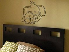 DUMBO VINYL WALL ART DECAL  - Click Pic to go to our website and buy it now!