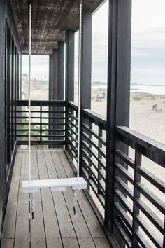 Traditional Deck with Porch swing, DIY Porch Swing