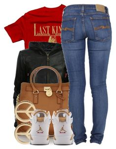 """""""3 3 13"""" by miizz-starburst ❤ liked on Polyvore featuring Royalty Collection, VIPARO, Michael Kors, Nudie Jeans Co. and Minor Obsessions"""