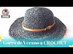 Sombrero calado de verano CROCHET - YouTube Sombrero A Crochet, Crochet Beanie, Knitted Hats, Knit Crochet, Knitting Videos, Crochet Videos, Crochet Stitches, Crochet Patterns, Basket Weave Crochet