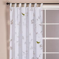pretty bird curtains - upstairs hallway or guest room? Laundry Room Curtains, Bird Curtains, Cute Curtains, Panel Curtains, Shower Curtains, Window Panels, Window Coverings, Affordable Home Decor, Dream Decor