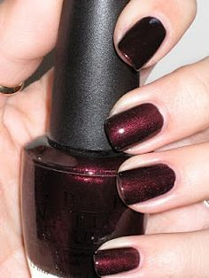 O.P.I Midnight in Moscow. Love this color year round!