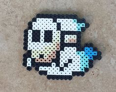 Shy guy ghost perler