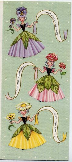 Vintage+1950s+Greeting+Card+Flower+Fairy+by+allsfairyvintage,+$5.00