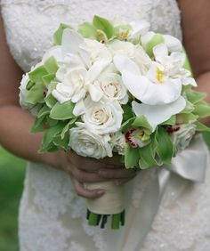 For a more exotic look for your bouquet, you can add the Lady Slippers orchids or the pinwheel succulents.    The ornamental cabbage in green is great, too. They are rather rare and pricey, but will make your bouquet memorable