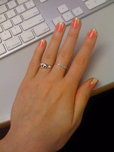 An updated French manicure