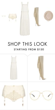 """""""Untitled #2902"""" by amberelb ❤ liked on Polyvore featuring Chloé, Lust For Life, Gucci and Yestadt Millinery"""