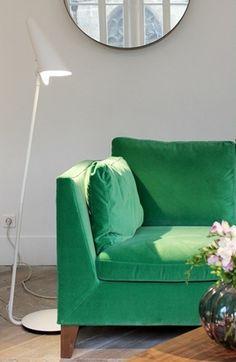 Jade green sofa colour