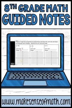 Check out these 8th grade math guided notes. These in-depth math notes for 8th grade and Algebra are perfect for virtual learning, in-class learning or homeschool. These cover various topics such as: systems of equations, Pythagorean theorem, solving equations with variables on both sides, transformations, scientific notation operations, functions, graphing linear equations, and more. Click here to check out this product. #makesenseofmath Systems Of Equations, Solving Equations, 8th Grade Math, Eighth Grade, Math Lesson Plans, Math Lessons, Fun Math Activities, Teacher Resources, Scientific Notation