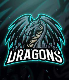Dragons sport and esport logo template ai, eps logo templates. Logo Dragon, Dragon Names, Dragon Sports, Vector Logos, Team Logo Design, Youtube Logo, Learning Logo, Sports Team Logos, Esports Logo