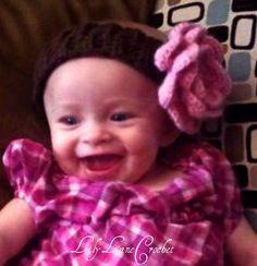 Crochet Baby Headband with Crochet Flower You by LilyLaneCrochet, $7.25